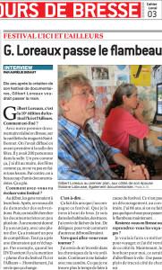 Journal de Saône et Loire du 22 Mars 2014
