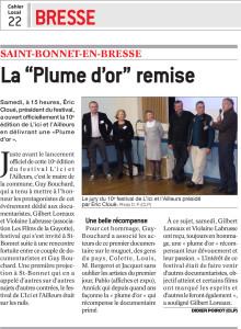 Journal de Saône et Loire du 24 Mars 2014