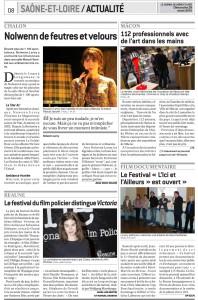 Journal de Saône et Loire du 29 mars 2015