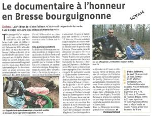 Le Progres Bourg en Bresse - 16 mars 2014